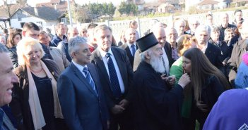 Његова Светост Патријарх српски господин Иринеј служио Свету литургију у цркви у Дражњу
