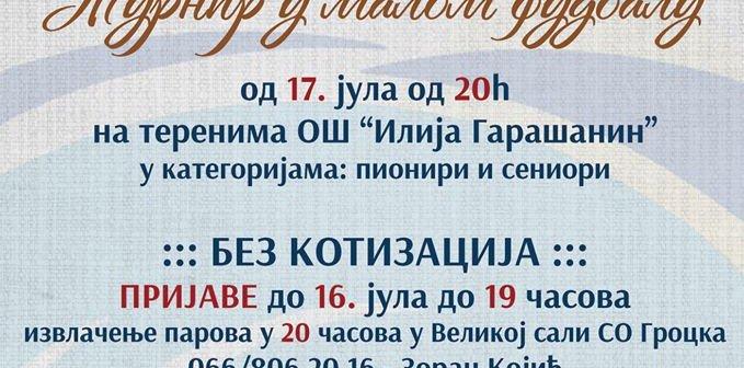 """Turnir u malom fudbalu """"51.Gročanske svečanosti"""""""