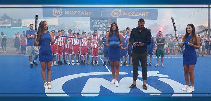 Otvoren obnovljeni košarkaški teren u Grockoj